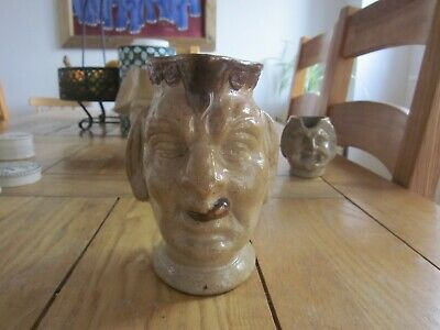 Excellent Condition C19th Saltglaze Stoneware Well Modelled Character Jug • 9.99£