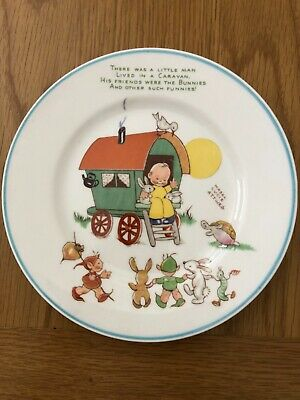 "Vintage SHELLEY Mabel Lucie Attwell 7"" Nursery Plate • 20£"