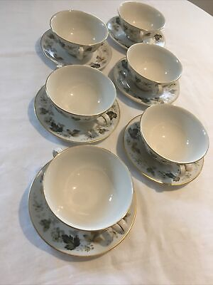 Royal Doulton Larchmont Two Handle Soup Bowls And Saucers X6 • 6£