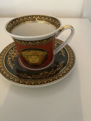 Versace Rosenthal Medusa - Expresso Cup And Saucer • 75£