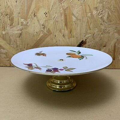 Royal Worcester Evesham Gold Footed Cake Stand Serving Plate- 24cm Dia  • 4.99£