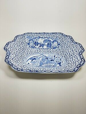 William Adams Blue And White Shallow Dish • 8.95£