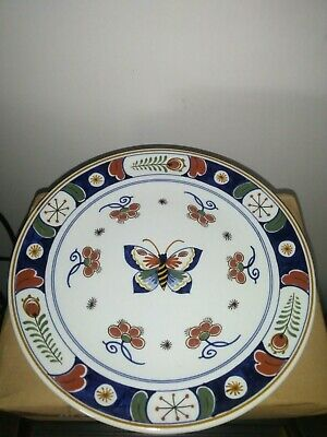 Vintage Delft (Signed) Butterfly Plate • 20£