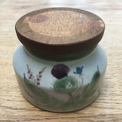 Vintage Buchan Stoneware Lidded Honey/Jam Pot Thistle Design Immaculate  • 5£