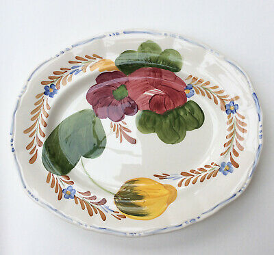 Simpsons Belle Fiore Oval Plate, Platter Chanticleer Ware • 22.99£