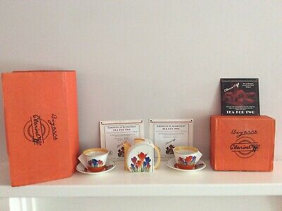 Clarice Cliff Bizarre Wedgewood Crocus Tea For Two Boxed Ltd Edition • 99.99£