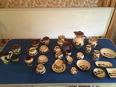 VINTAGE WATCOMBE DEVON TORQUAY LONGPARK POTTERY  28 Pieces • 50£