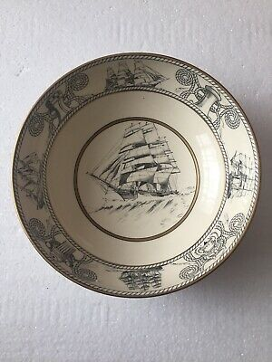 Clarice Cliff Design Wilkinson Pottery Very Rare Nautical Scenes Large Bowl  • 9.99£