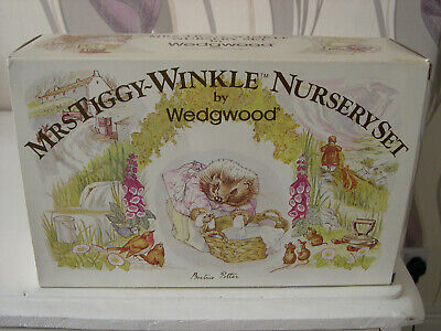 Vintage  Wedgwood Mrs Tiggy- Winkle Nursery Set Unused • 4.99£