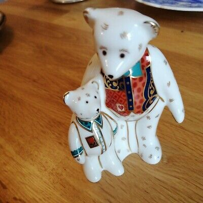 Royal Crown Derby Bears Embrace Paperweight No Stopper • 25£