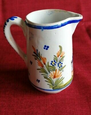 Henriot QUIMPER Rare Small Jug  French Faience Pottery • 8£