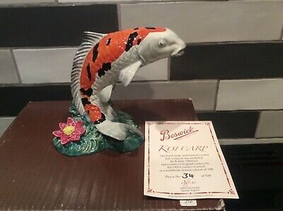 Lovely Very Rare Beswick Ltd Edition Koi Carp Figurine No 34 Of 500 SU1452@ • 125£