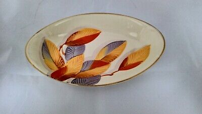 Gray's Pottery Hand Painted Oval Dish • 10£