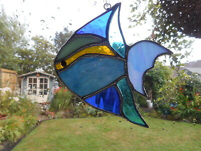 Stained Glass Fish Suncatcher • 19£