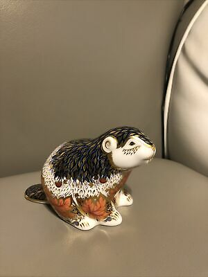 Royal Crown Derby Paperweight Riverbank Beaver Limited Edition. • 50£