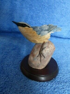 Border Fine Arts Nuthatch On Pebble Russell Willis • 17.50£