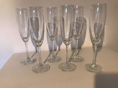 Set Of 6 Champagne Glasses- Excellant Condition - Nice Weight And Quality  • 1.99£