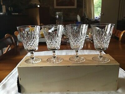 4 Lovely Cut Glass Red Wine Glasses • 7.31£