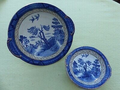 Booths  Real Old Willow   9072 Dishes, Fruit Bowls - 5 Small And 1 Large • 17.99£