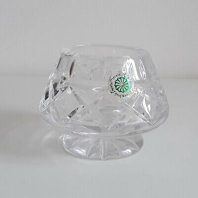 GALWAY CRYSTAL Vintage Cut Glass Retro Candle Holder Tea Light Gift  • 15£