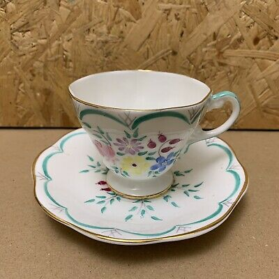 Vintage Foley China Hand Painted Art Deco Tea Cup & Saucer • 4.99£