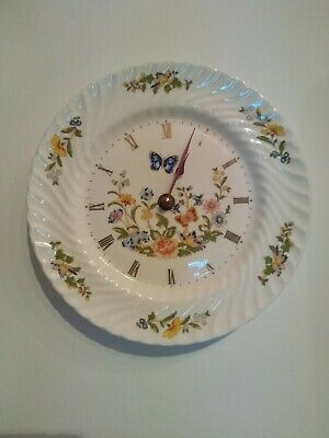 Aynsley China Wall Clock 'cottage Garden' Plate. • 2.10£
