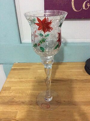 Tall Christmas Glass/ Goblet By Carmani. Very Rare. • 30£