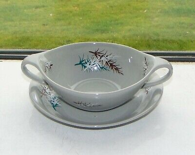 James Kent English Pottery Old Foley Oregon Pine Soup Bowl Coupe And Stand  • 5£