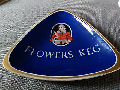 Very Rare Carltonware Ashtray - Flowers Keg Shakespeare • 15£
