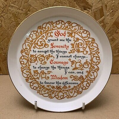 Vintage Royal Tudor Ware Pottery Dish - Serenity Prayer 17cm Dia Shortbread Tray • 4.99£