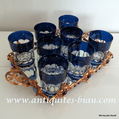 Set Of 8 Whiskey Glasses In Crystal Saint Louis PERFECT • 665.12£