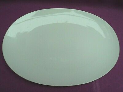 Thomas Germany White/Platinum Thin Platinum Band Porcelain Large Oval Platter  • 20£