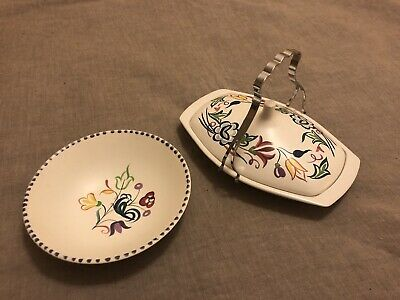 Poole Pottery Butter Dish And Bowl • 12.50£