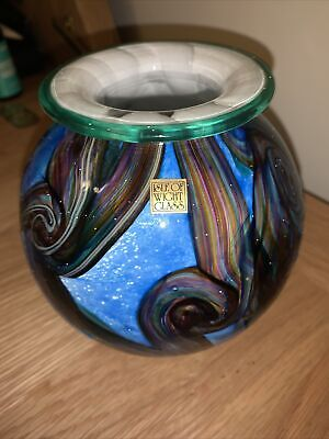 Isle Of Wight Glass Globe Vase 1993 Reduced • 34.99£