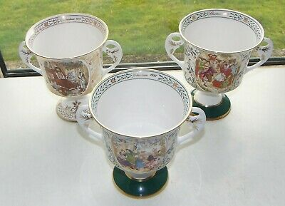 Caverswall Porcelain 3 X Christmas Goblets 1st 3rd And 4th. Limited Editions  • 45£