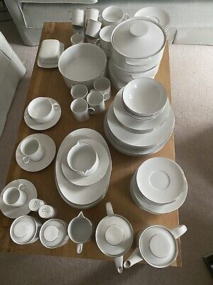 Thomas Germany 85 China Pcs, Tea Set+Dinner Set Platinum Band • 500£