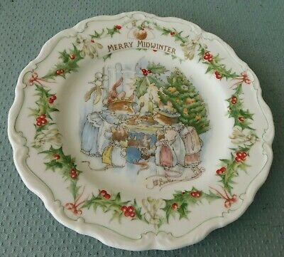 Royal Doulton Brambly Hedge Wall Plate - Merry Midwinter • 45£