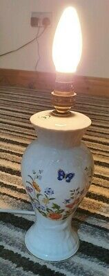 Aynsley Cottage Garden Pattern Light Lamp Base Retro Working Collectables • 19.50£