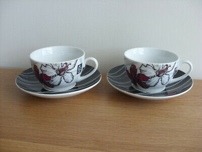 Pair Of Royal Worcester  Annoushka  Lawrence Llewelyn Bowen Cups And Saucers • 10£