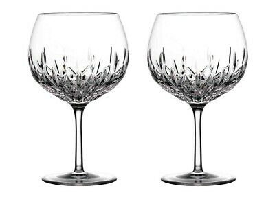 Waterford Crystal Gin Journeys Lismore Balloon Glasses Set Of 2 Pair • 129.99£