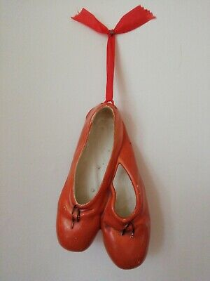 Vintage Brentleigh Ware Red Ballet Shoes Wall Pocket • 10£