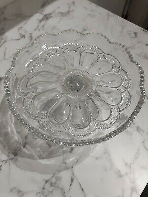 Cake Stand, Glass, Vintage/Antique • 20£