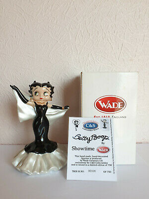 Wade BETTY BOOP Figure SHOWTIME Inc CERT & BOX - C&S Collectables Limited Ed • 42.50£