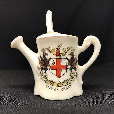 Vintage City Of London Crested Ware Watering Can By Gemma Czechoslovakia • 4.50£