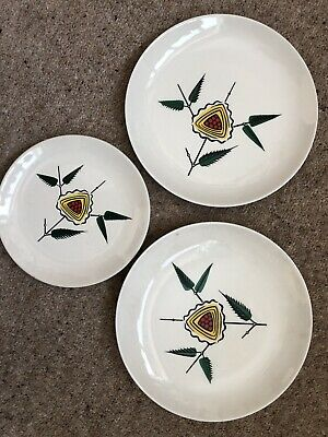 Wade Royal Victoria X2 Large Plates X1 Tea/ Side Plate • 10£