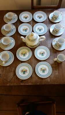 Villeroy And Boch Basket Tea And Coffee Set In Very Good Condition • 225£
