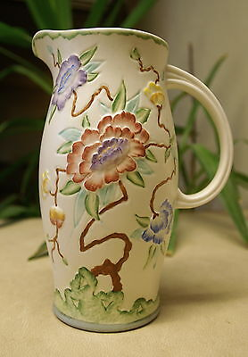H. J. Wood - Chinese Rose Jug 9 Inches Tall  • 15£