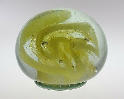 Br142. NICE SIGNED MICHAEL HARRIS ISLE Of WIGHT STUDIO GLASS SWIRLY PAPERWEIGHT  • 45£