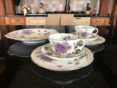 Hammersley Fine Bone China Trio  - Cup, Saucer And Side Plate X 2 And Cake Plate • 40£