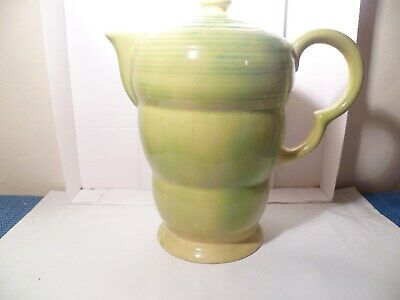 Wade Tea/coffee Pot ,yellowy-green In Colour ,lovely Condition,8 • 3.99£